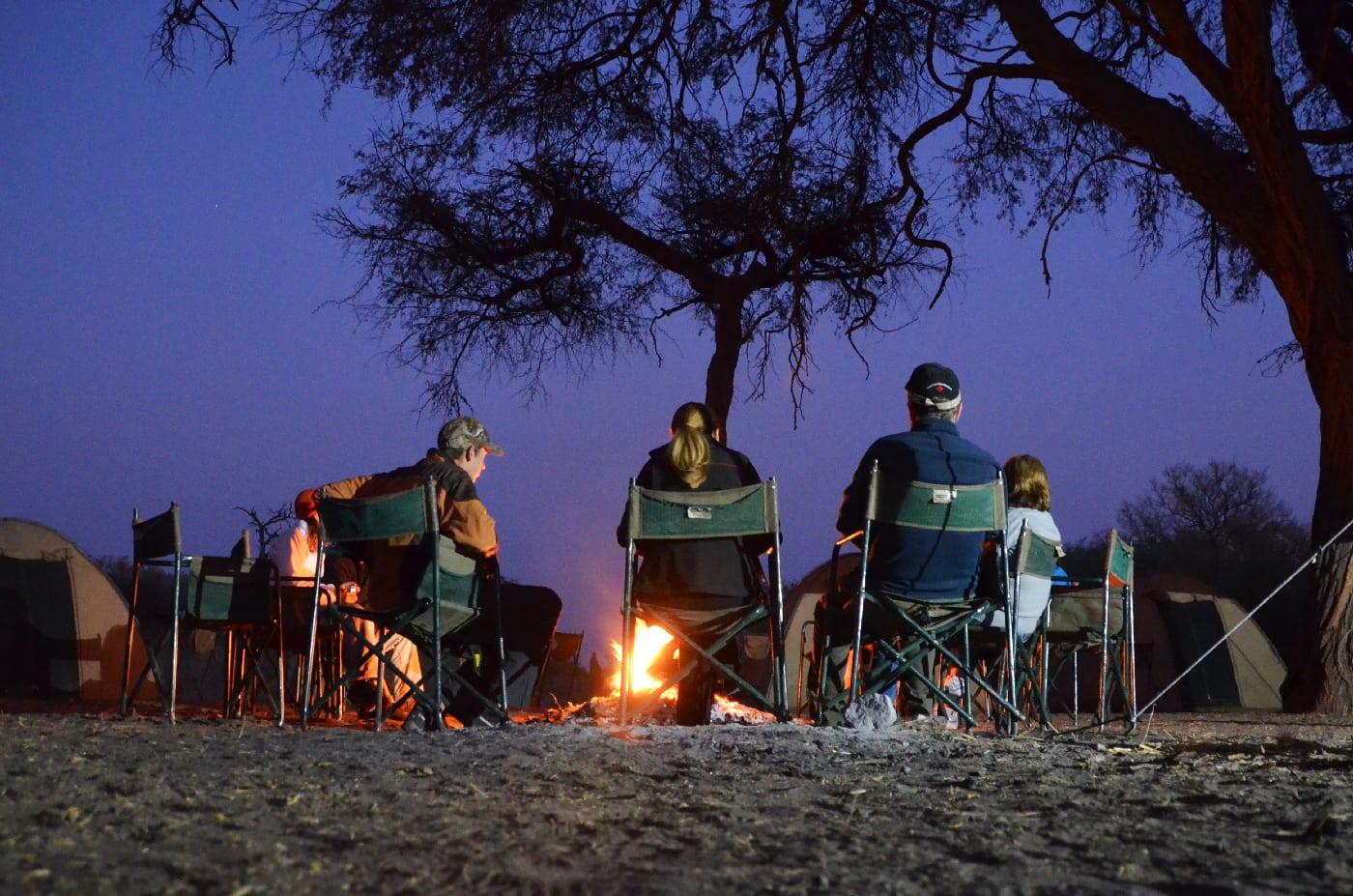 285 kms. Accommodation in tented safari camp in Okavango Delta.