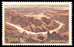stamp fish river canyon 1981 small
